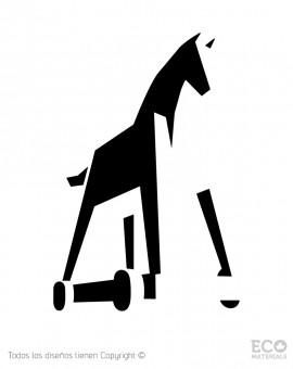 living-troy-horse